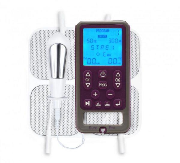 Sure Pro lantionpohjan lihasten vahvistaminen tens-laite ammattilaisille sisältää elektrodit