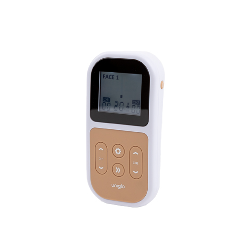 Uniglo Anti-Aging TENS-laite sivusta kuvattuna.